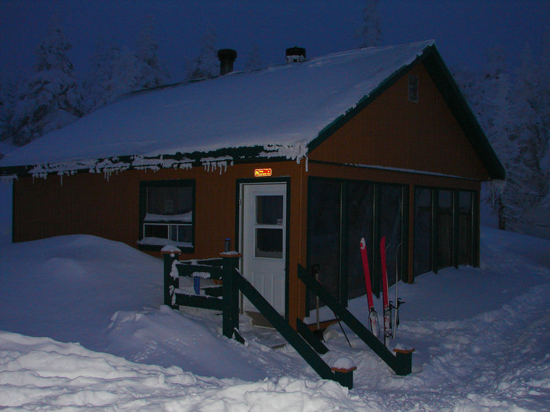 La Nyctale cabin. a true refuge from the strong icy winds.