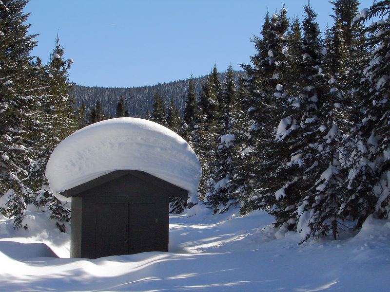 Whats the R value of 2meters of snow on the roof?