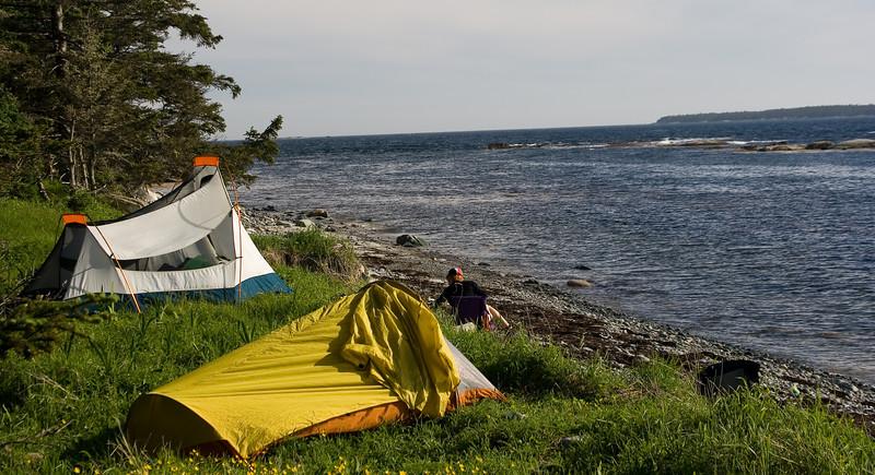 Camping at Taylors Head Provincial park.