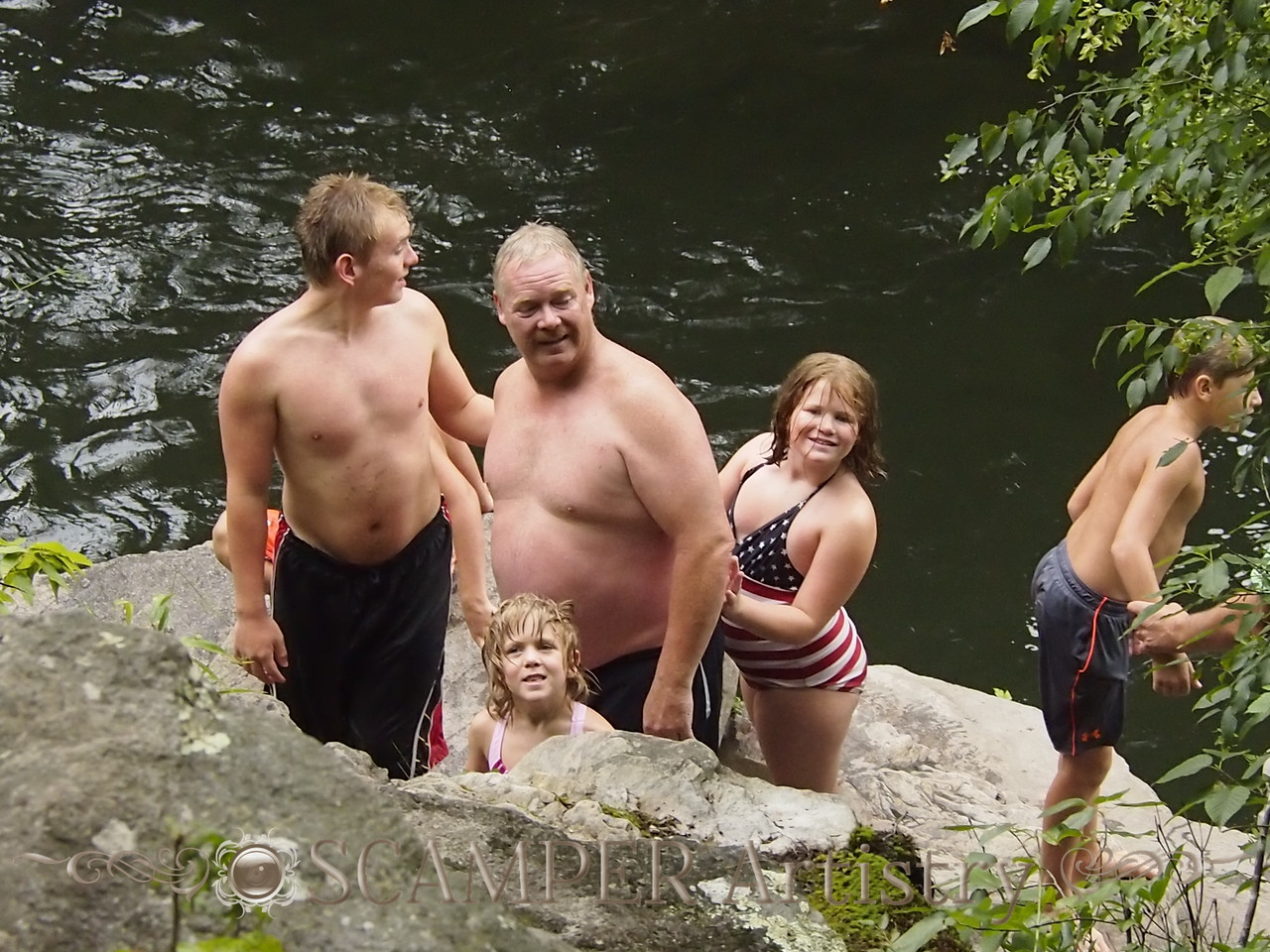 at Sinks Swimming Hole at Great Smokey Mountain National Park