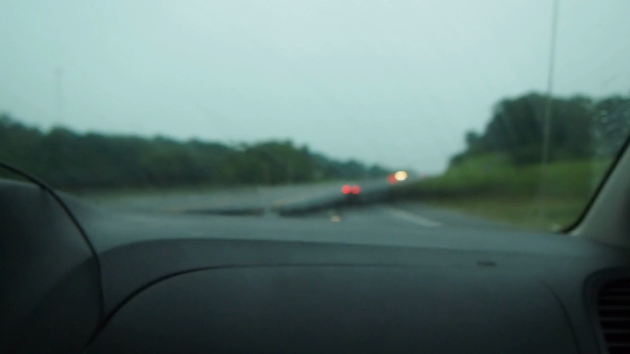 driving along