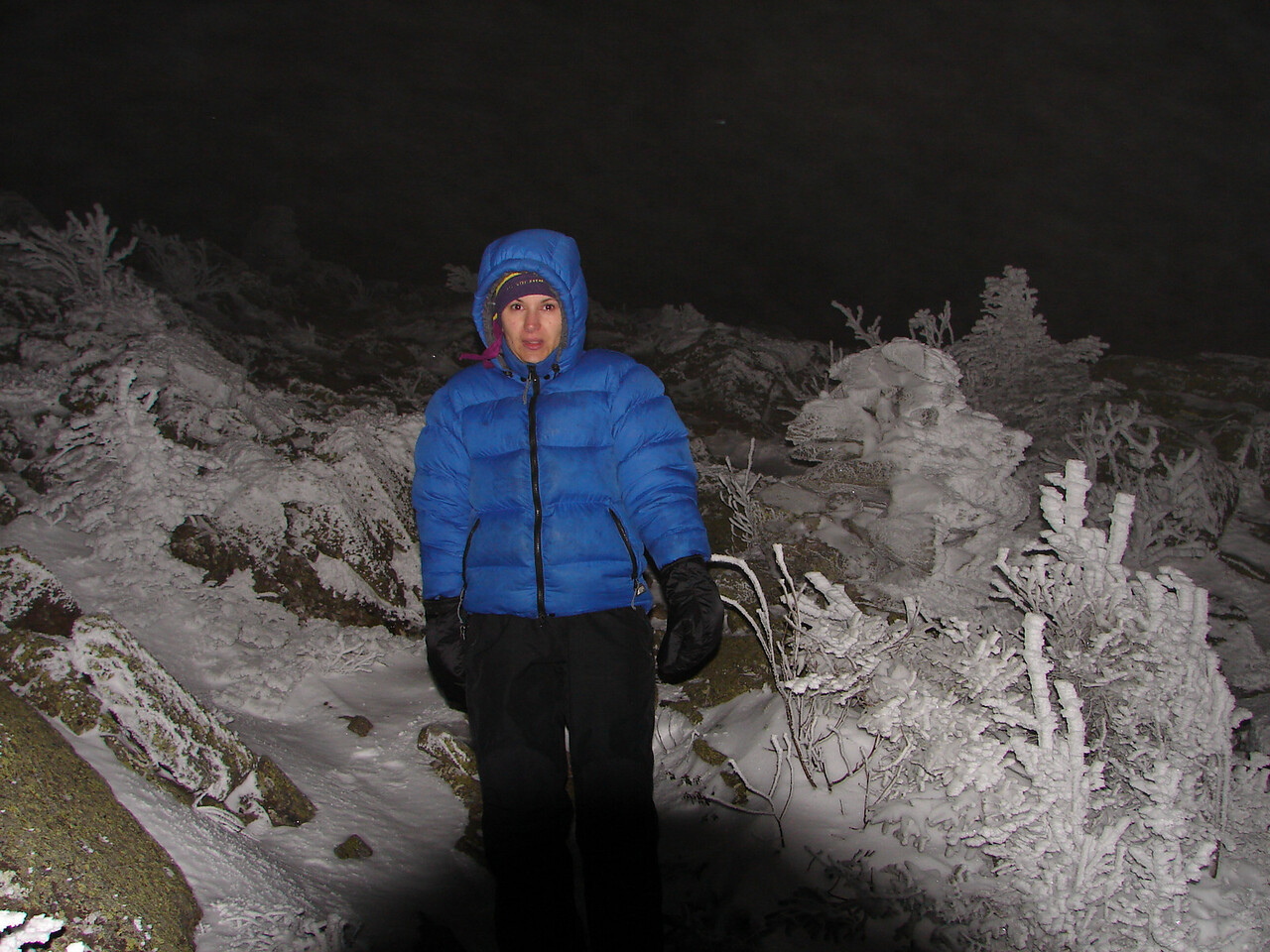 Oh come on Michelle, just go up above treeline for one shot....Yes..it was THAT cold.
