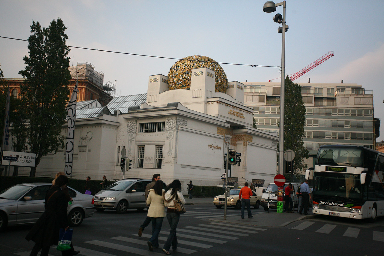 And then we reached the Secession building- or as some Austrians like to call it, the Golden Cabbage!