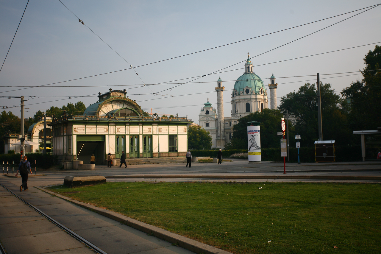 "Next on the list was Otto Wagner's Karsplatz Stadtbahn Station. Again, for a little more: <a href=""http://en.wikipedia.org/wiki/Karlsplatz_Stadtbahn_Station"">http://en.wikipedia.org/wiki/Karlsplatz_Stadtbahn_Station</a>"