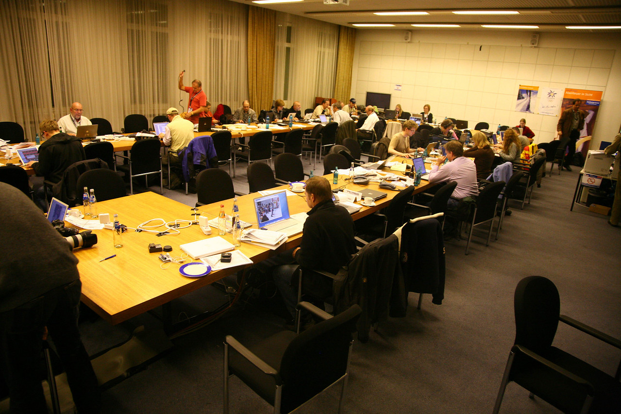 Press room in dusseldorf- it was very awesome (this is just a remnant that was on my camera)