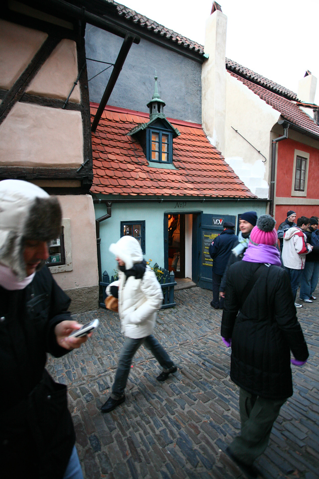 Theoretically the smallest house in Prague.