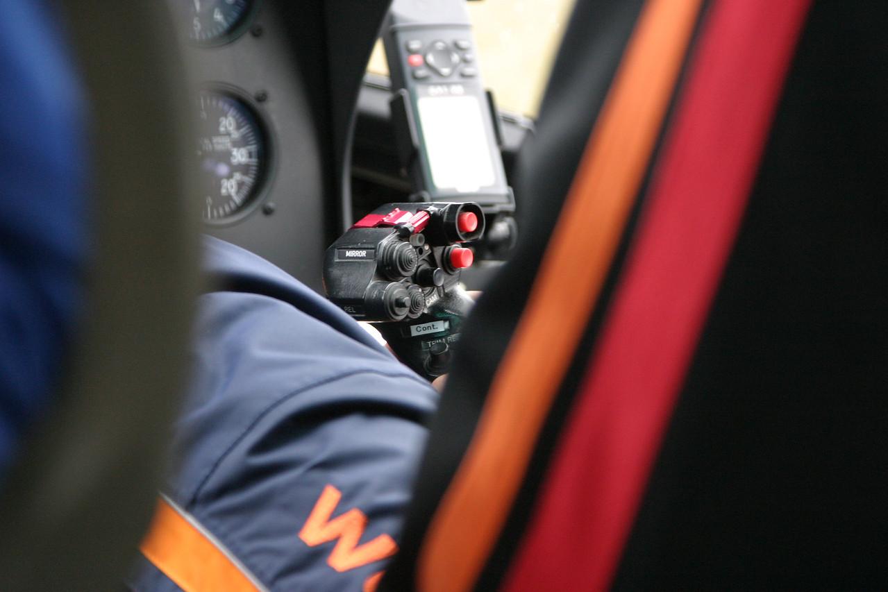 The pilot's controls