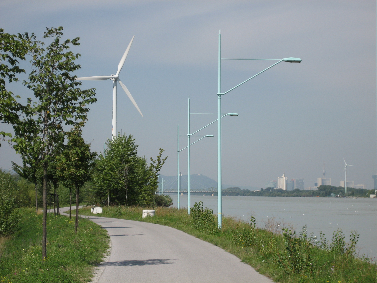 Cool windmills- if you look to your right you can see the tower that you saw in the other picture- except quite a bit in the other direction!- I did a lot of biking.