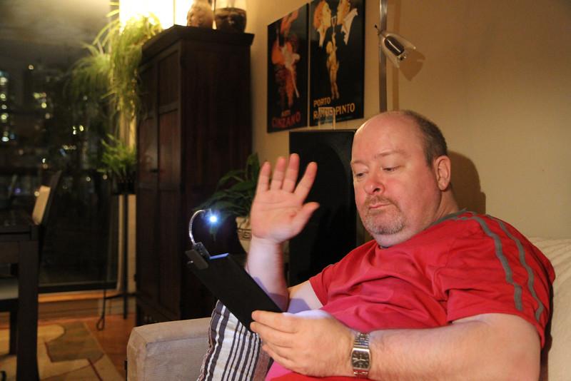 Jan. 8/12 - Vince reads his Kobo