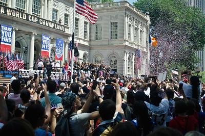 Celebrate with the U.S. Women's Soccer Team, NY City Hall, July 10, 2015
