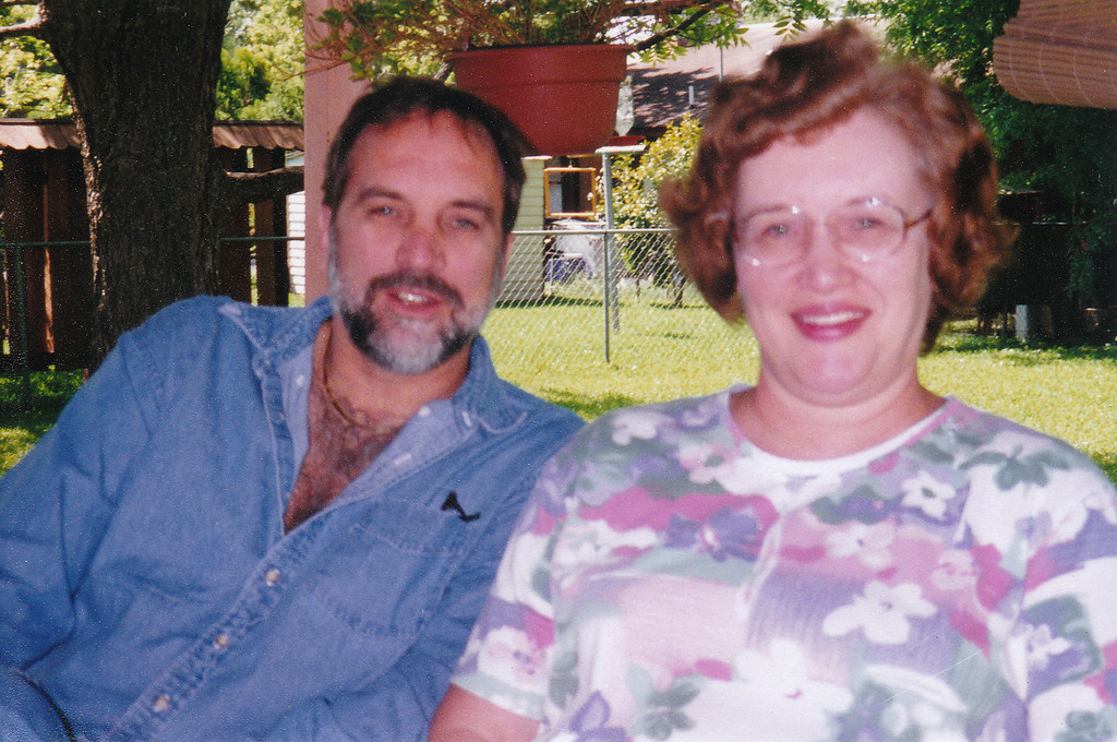 Allan and Evelyn - Mom's backyard