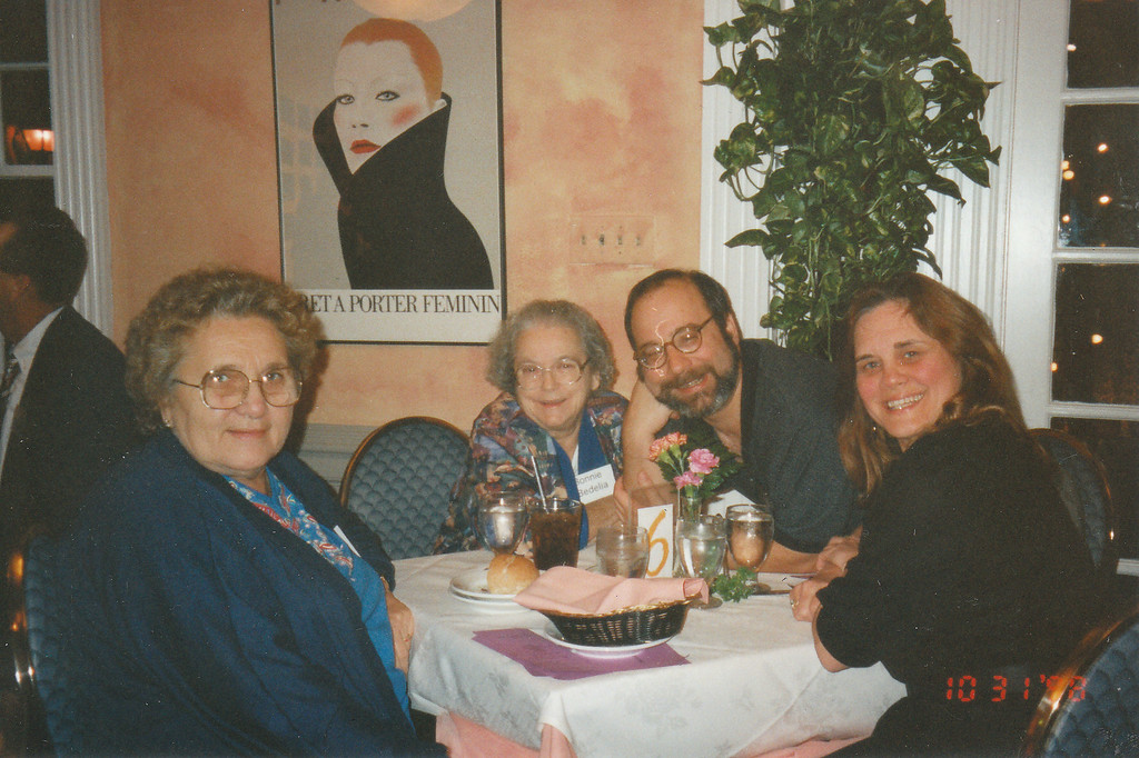 Mom, Nancy, Theo and Nina - Houston Dinner Theater - Oct 1998