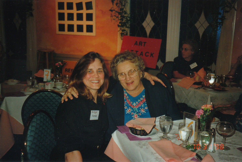 Mom and Nancy - Houston Dinner Theater - Oct 1998