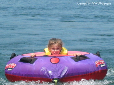 07/21/03  Baylee out on the tube.