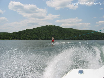 05/27/03  Patrick water skiing on doubles on Table Rock Lake.