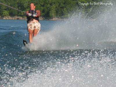 07/23/03  Dad up on his salome ski.