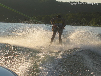 07/23/03  Dad is once again skiing backwards.