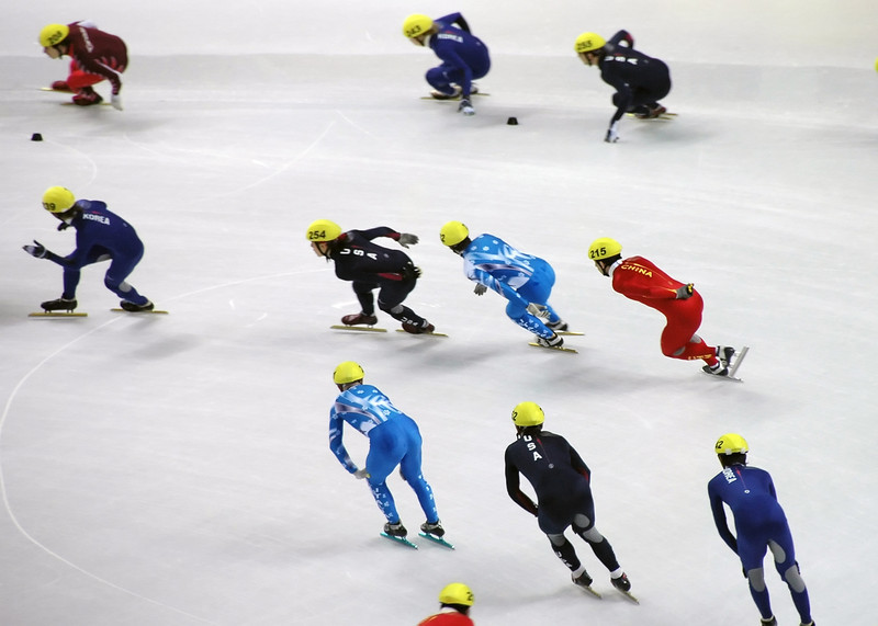 short track relay with Apolo Ohno