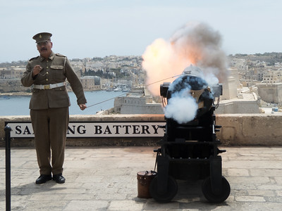 The Saluting Battery, Valletta - Malta