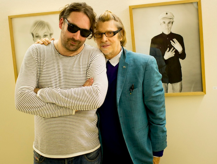 With Andy Warhol's personal photographer, Christopher Makos, 2014 December, Shanghai