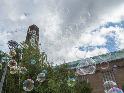 Tate Gallery under bubbles
