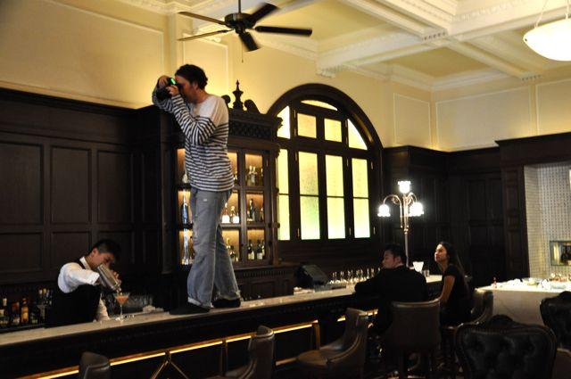 At the long bar, 2010, Waldorf Astoria, Shanghai
