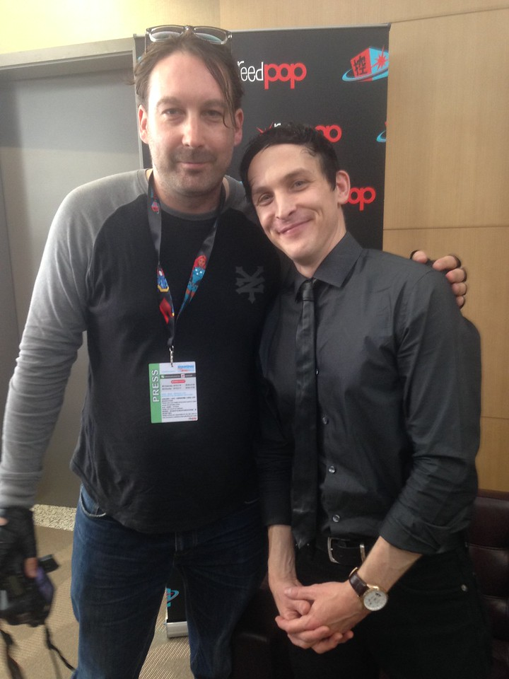 With Gotham actor Robin Lord Taylor at the SH Comic Con 2015