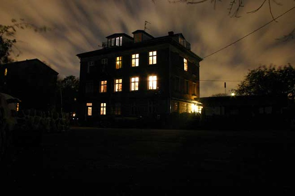 Black windy night, Christiania, Copenhagen, Denmark