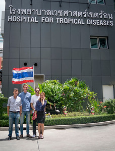 With the MORU team after the Cambodian malaria shoots - Bangkok, 2016 Summer