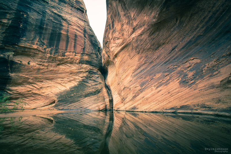 The exit crack of Zero G slot canyon in southern Utah