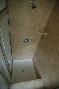 Master bedroom bathroom - Looking down at shower.