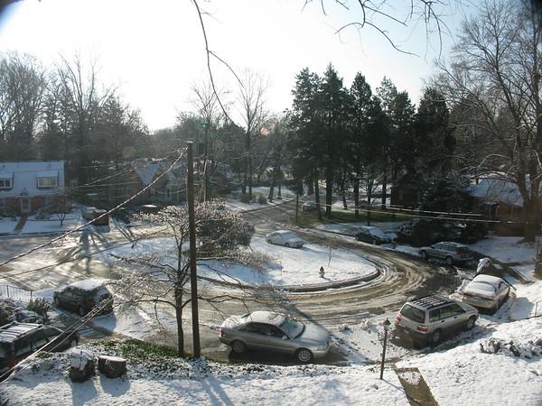 view of the street the next morinig
