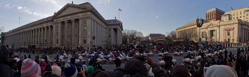 The start of the presidential motorcade