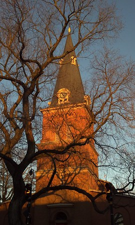Sunset on St. Anne's Church in Annapolis