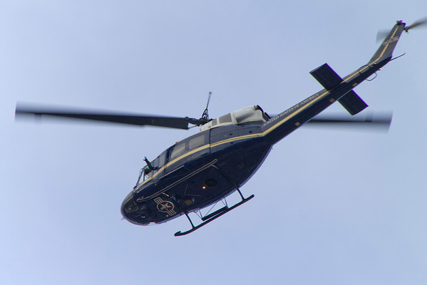 Jonathan waving from his helo as he flies over my house in Annapolis