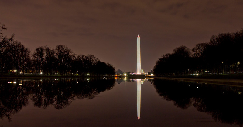 down at the reflecting pool