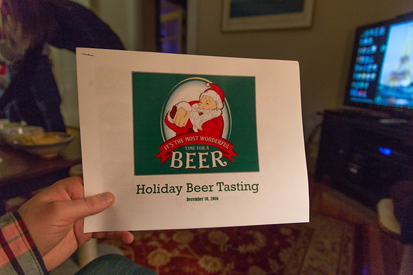 We're up in Rhode Island for the Walsh's annual holiday beer tasting event