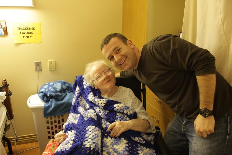 Me visiting my grandma
