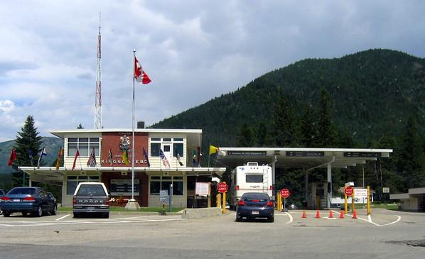 At the border into Canada, Kingsgate BC