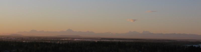 The Alaska Range... it's good to see it again