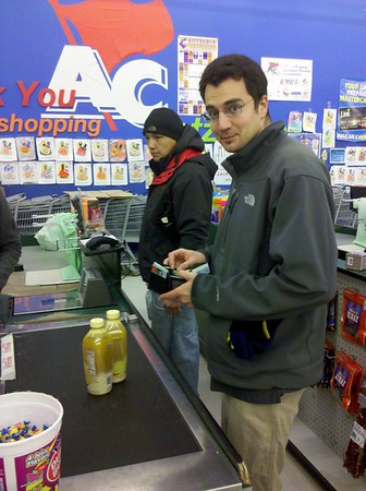 And Matt at the AC... buying Bolthouse Mango juice... of course!