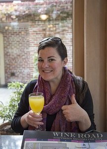 post-breakfast mimosas to start the wine-tasting day off right!