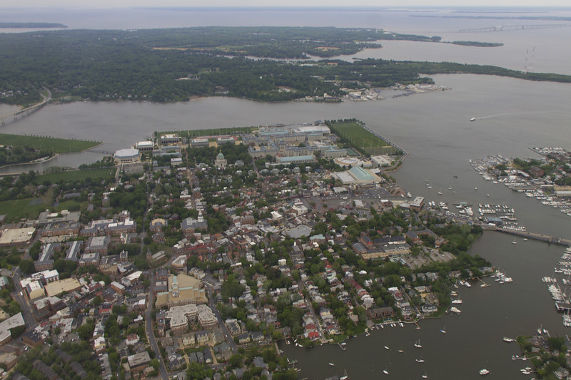 Annapolis from the air - my house is in the bottom middle...