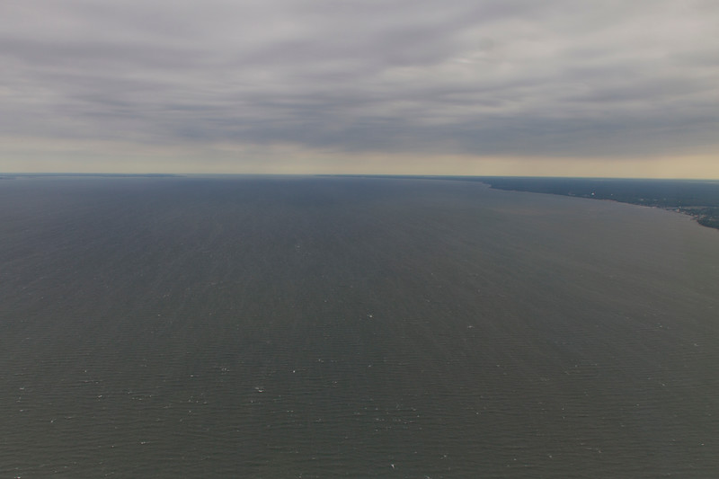 the view out the window down the Chesapeake
