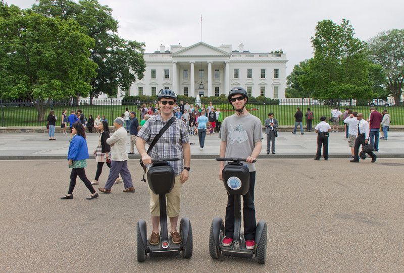 Me and the birthday boy in front of the White House... yea for Segways!