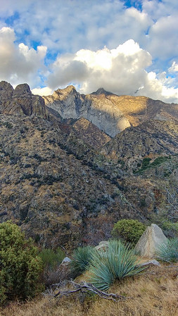 View from the road across lower Kings Canyon