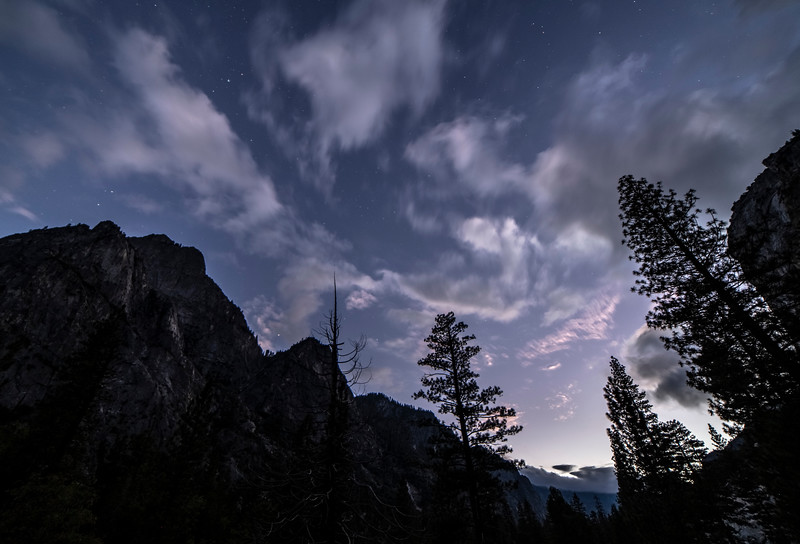 Twilight at Road's End inside Kings Canyon NP