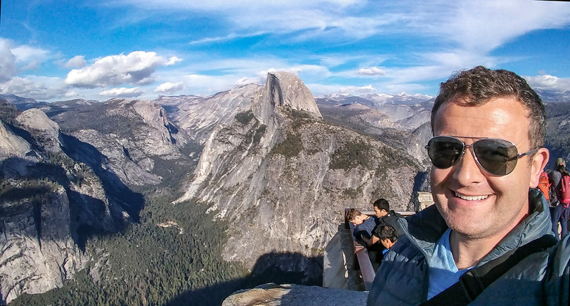 Me with half-dome, in Yosemite NP
