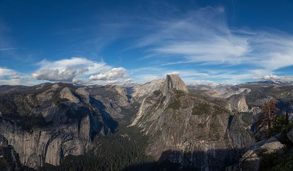 Half-dome and the Yosemite Valley