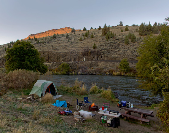 our campsite along the Deschutes River